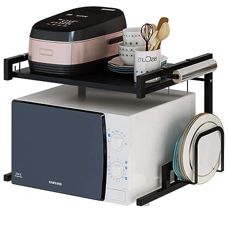 Estante de horno de microondas, 2 niveles de rack de acero ...