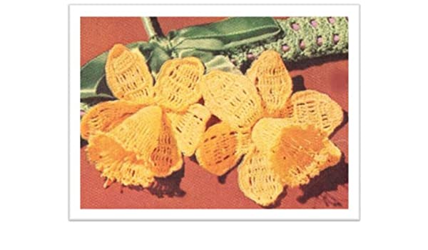 7fc1159cd 2055 DAFFODIL HANGER VINTAGE CROCHET PATTERN - Kindle edition by ...