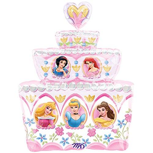 Disney Princess Jumbo Birthday Cake Balloon - Size 28 inches (Party City Disney Princess)