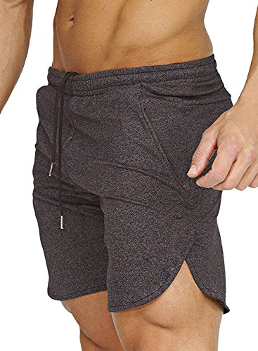 COOFANDY Men's Gym Workout Shorts Running Short Pants Fitted Training Bodybuilding Jogger With - Running Apparell