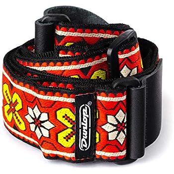 CORREA GUITARRA ELECTRICA - Dunlop (D67 03RD Avalon) Jacquard (Color Roja)