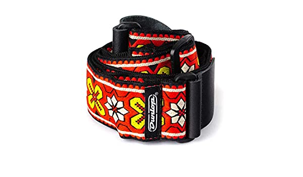 Amazon.com: CORREA GUITARRA ELECTRICA - Dunlop (D67 03RD Avalon) Jacquard (Color Roja): Musical Instruments