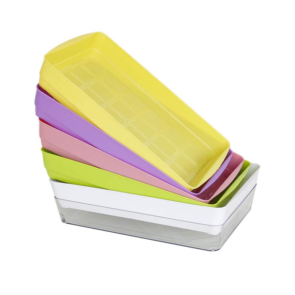 Yardwe Samen Sprouter Tabletts Baumschule Tablett für Garten Zuhause Büro (Zufällige Farbe)