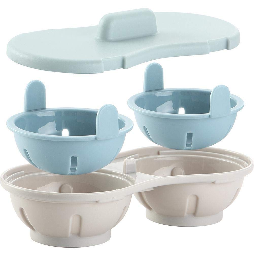 Two Steamed Egg Box Microwave Tray Oven Microwave Kitchen Molds Water filter bowl double layer design