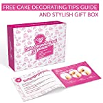 """Cakebe cupcake decorating kit 52 pcs cake decorating kit and cookie decorating kit cake decorating set and cookie… 11 ✅cake decorating supplies. No need spending your precious time looking for the cake decorating supplies that you might need for creating your boldest cake designs. The cakebe set includes the most necessary items that a baker needs for perfect cake decoration: 32 numbered stainless steel tips, 2 couplers, 2 reusable silicone pastry bags and 10 disposable decorating bags, flower nail and lifter. 2 bags ties, decorating guide and storage box. ✅impress your guests. It's believed that beautiful pastry with fancy icing can be made only by people who have been trained for years. This isn't true! With the cakebe cake decorating kit for beginners, you can create a real masterpiece at home on your own! Just imagine the surprise of your husband or guests when you tell them that these lavish cupcakes were made by you! With this set, you can decorate baking goods and products with perfect flower compositions and other patterns. ✅for both pros and a kids. While professionals will enjoy the possibilities of such a large number of tips, beginners will love the ease of creating a real """"bake shop"""" cake design without any experience. Also, kids will adore the kit! Decorating a pie together with your child will be a happy and memorable experience for both of you."""
