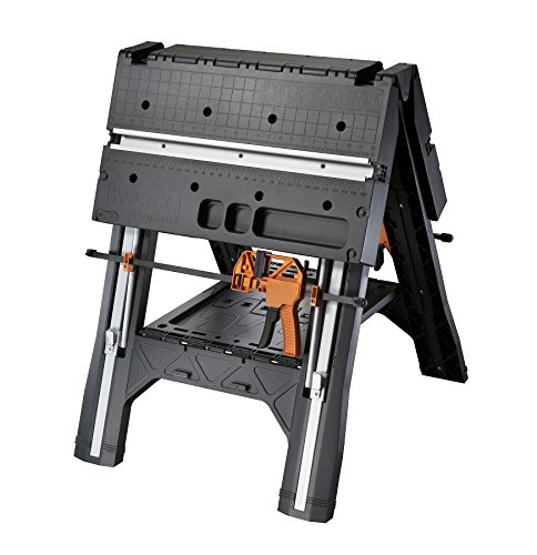 WORX Pegasus Multi-Function Work Table and Sawhorse with Quick Clamps and Holding...