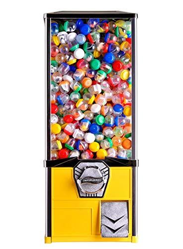 2'' Toy Capsule Vending Machine Four 25 Coins $1.00 Acorn Round Capsules Bouncy Balls (Yellow) by Global Gumball (Image #2)