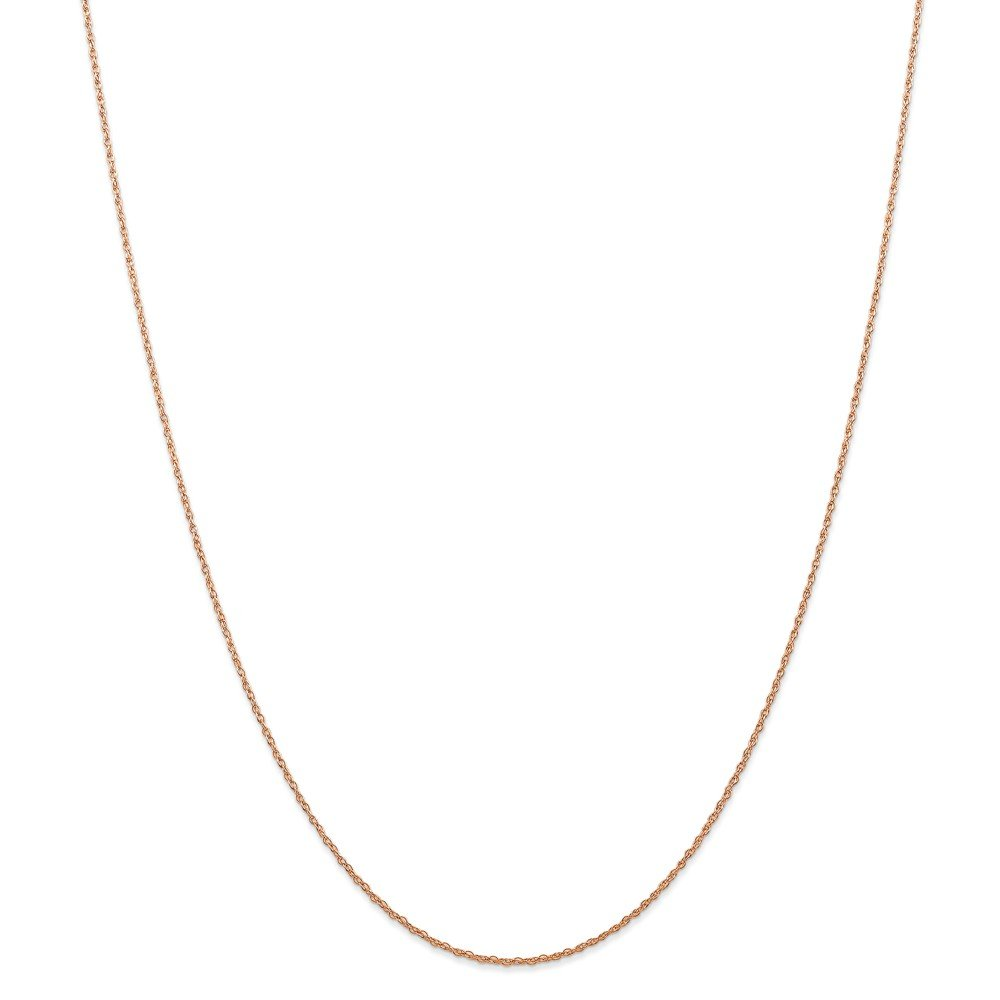Brilliant Bijou 14k Rose Gold Carded Cable Rope Chain Necklace