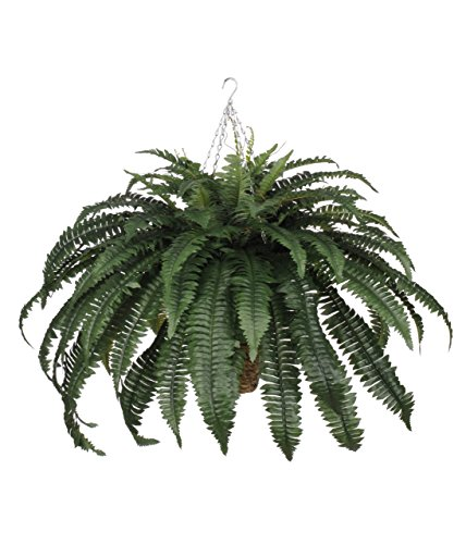 Artificial Fern Hanging Plant in Beehive Basket