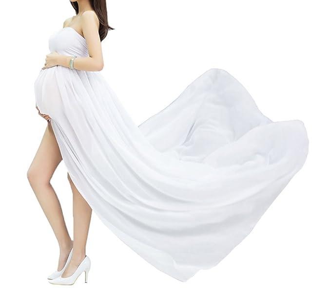 Vestido de maternidad de las mujeres Sexy embarazada fotografía Props Studio vestidos de gasa,regalo
