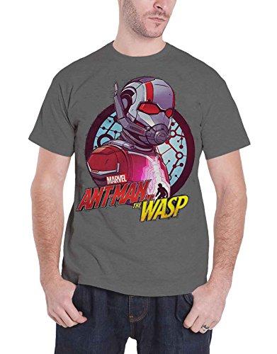 개미 남자와 말살 T 셔츠 서클 콤프 를 마블 만화 [1) / Ant Man And The Wasp T Shirt Circle Comp 公式 Marvel Comics メンズ Charcoal