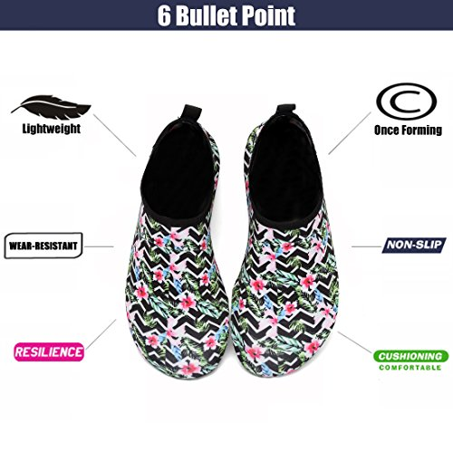 Shoes Black Men Flower Women for Snorkeling Beach Shoes Yoga Swim EASTSURE Socks Water Surf Aqua Sport 68wqnSZxI