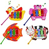 Musical Educational Animal Developmental Music Bell Toy 4 Tones for Kids Baby