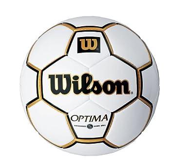WILSON Optima Game Balón de fútbol - Aprobado por NFHS: Amazon.es ...