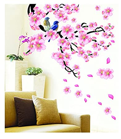 PINDIA 3D DCOR ATUMA FLOWER DESIGN WALL STICKER Amazonin Home