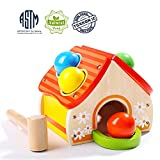 TOP BRIGHT Hammer Toy for Toddlers, Wooden Pounding Toy for One Year Old Boy Gifts, Kids Learning...