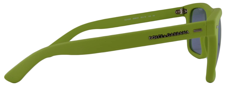 44509f776954 Dolce   Gabbana Sunglasses DG6095 Acid Green Rubber w Light Blue Mirror  Green Lens 299631 DG 6095  Amazon.ca  Clothing   Accessories
