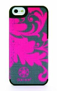 Gaiam - Carcasa para iPhone 5/5S, diseño de tela con filigrana, color rosa