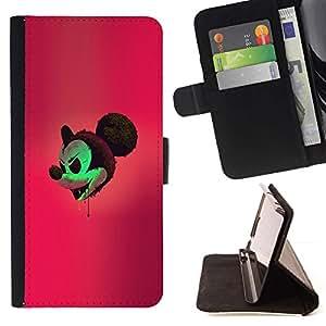 Momo Phone Case / Flip Funda de Cuero Case Cover - Mal Mickey;;;;;;;; - Apple Iphone 6