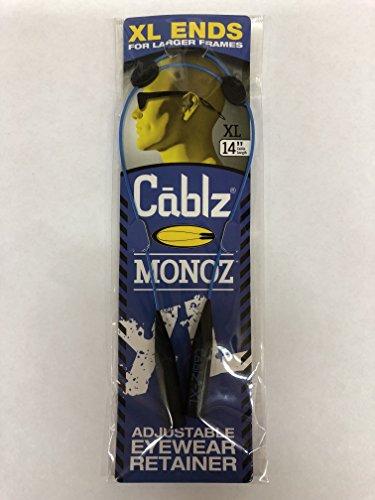 Cablz Monoz Monoz Zipz XL End Eyewear Retainer | Adjustable Eyeglass/Sunglasses Holder Strap - Classic Blue, 14