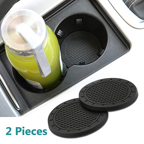 Jhaze 2 Pcs 2.75 inch Car Interior Accessories Anti Slip Cup Mat for for All Brands of Cars