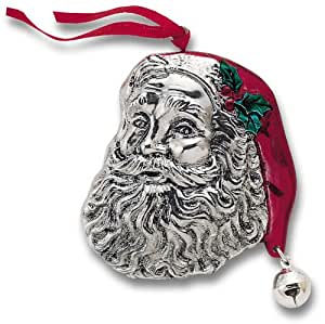 Reed & Barton Santa with Jingle Bell Silver-plated Ornament