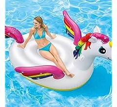 FESTNIGHT Flotador Piscina Centro de Juegos Hinchable Cool ...