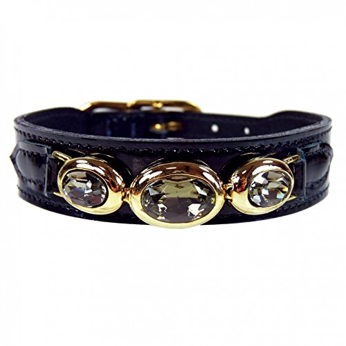 - Hartman & Rose Regency Collection Dog Collar, Black Patent, 16-18-Inch