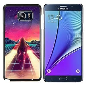 Stuss Case / Funda Carcasa protectora - Pintura abstracta del espacio de la ciencia ficción púrpura Estrellas - Samsung Galaxy Note 5