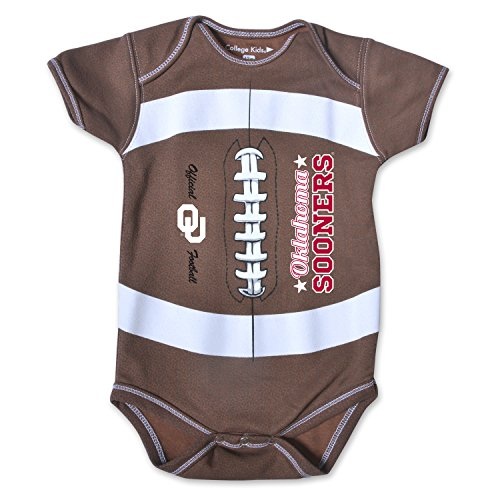 NCAA Oklahoma Sooners Kids MVP Football Bodysuit, 0-3 Months, Brown ()