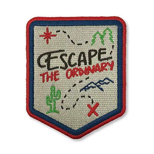 OHoulihans - Escape The Ordinary Iron on Patch - Hiking, Camping, Travel, Adventure Patch