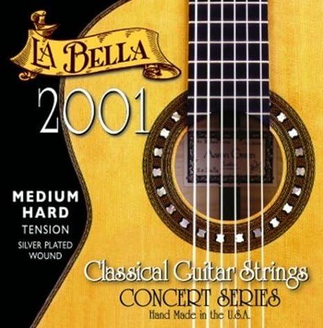 CUERDAS GUITARRA CLASICA - La Bella (2001/MHT) Media Fuerte (Juego ...