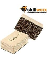 skillworx mano Stand Blocks: Raw Edition–Mano Stand bloques de madera haya FSC