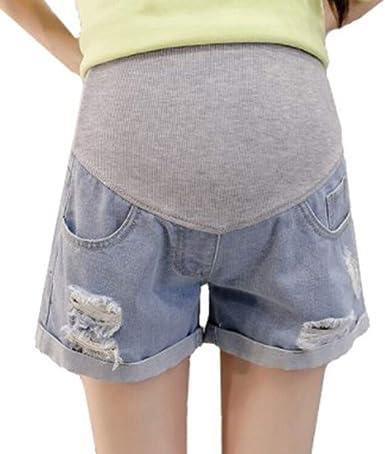 Pantalones Cortos Embarazadas Verano Vaqueros Premama Tallas