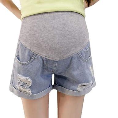 Pantalones Cortos Embarazadas Verano Vaqueros Premama Tallas ...