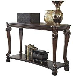 Ashley Furniture Signature Design - Norcastle Sofa Table - Rectangular - Dark Brown