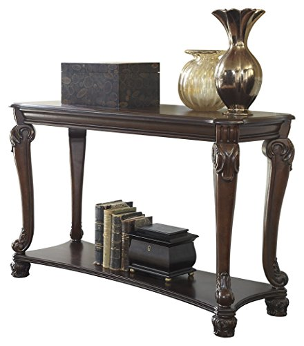 Ashley Furniture Signature Design - Norcastle Sofa Table - Rectangular - Dark Brown by Signature Design by Ashley