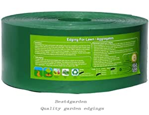 Green Lawn Edging Heavy Duty, Strimmer proof mow over 2mm thick 10m, 12cm depth