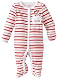 Disney Baby-Girls Newborn Minnie Mouse My First Christmas Sleep And Play Romper