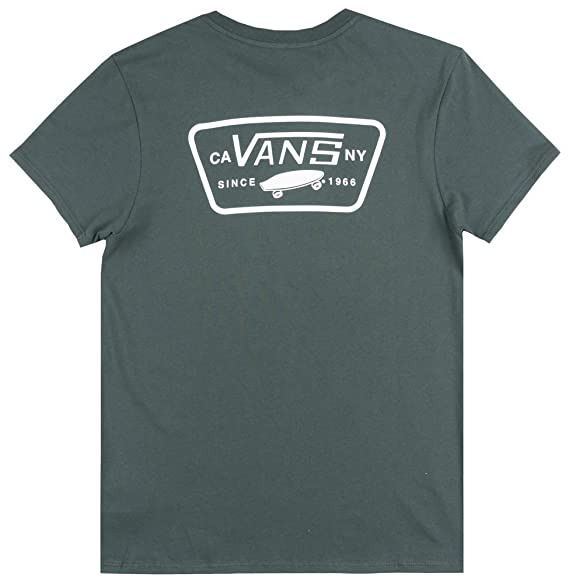 34a7fdb737 Image Unavailable. Image not available for. Color  Vans Off The Wall OTW  Full Patch T-Shirt Womens Skateboard ...