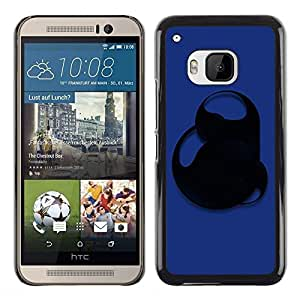 LECELL -- Funda protectora / Cubierta / Piel For HTC One M9 -- Blue Abstract --