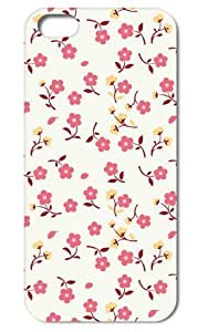 Flower Pattern Rubber Coating Back Case for iPhone 5 5S ,Tomhousmick-Custom Flowers Style design hard case cover for iphone 5 iphone 5s