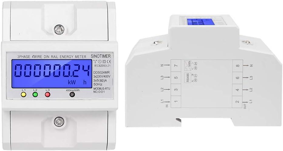 LCD di corrente alternata CONTATORI CONTATORE DIGITALE visualizzazione Hutschiene wattmetri zw3