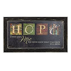 Premium Home Country Inspirational Marla Rae Hanging Wall Art By Besti - Primitive Americana Decorative Plaque – Rustic Style Décor Sign With Saying – Excellent Quality Polystyrene (Hope)