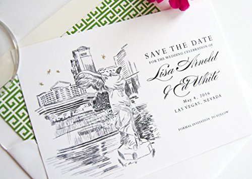Las Vegas Caesars Palace Destination Wedding Save the Dates (Set of 25) -