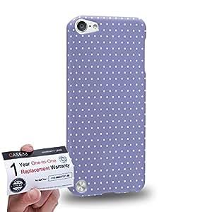 Case88 [Apple iPod Touch 5] 3D impresa Carcasa/Funda dura para & Tarjeta de garantía - Art Coloured Doodle Patterns Blue Dot