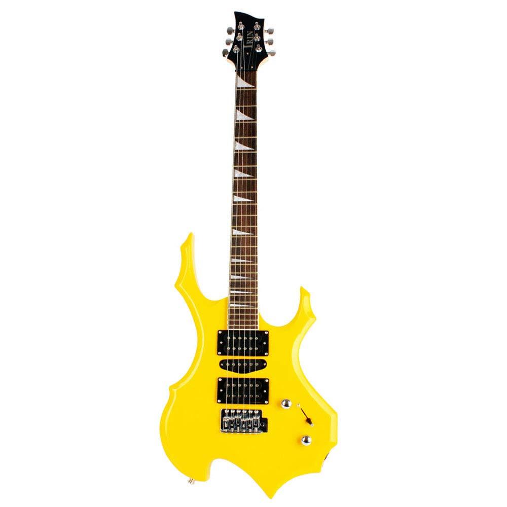 ZYCZ Guitarra eléctrica Llama Guitarra eléctrica 24 Productos Rosa de Madera Opcional Instrumento,Yellow: Amazon.es: Deportes y aire libre