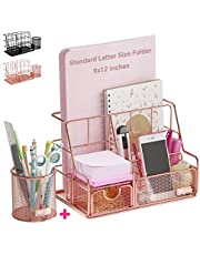 $21 » Orgowise Desk Organizer And Pen Holder, Office Organizers For Desk, Desk Caddy, Office Essentials For Better Organization, Desk Sets And Accessories For Women, Black Or Rose Gold Desk Organizer
