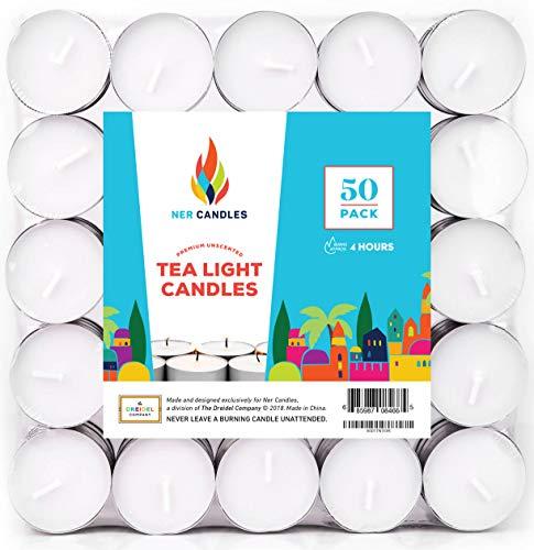 Ner Candles Tea Lights (50-Pack)