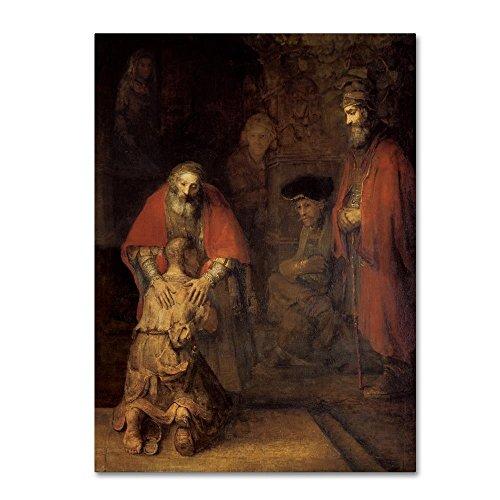 Return of the Prodigal Son by Rembrandt, 35×47-Inch Canvas Wall Art